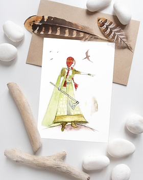 Bouddicca notebook | Unique gifts by Morvenna | Scottish artist