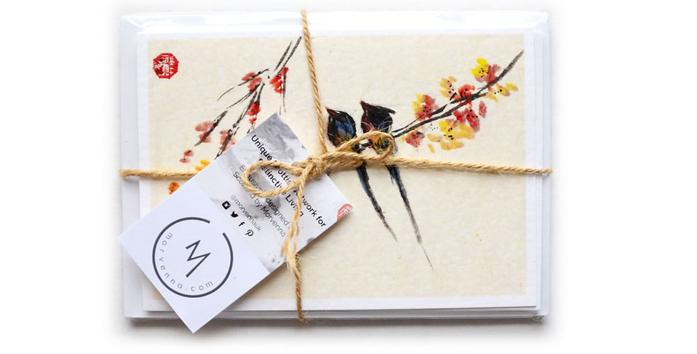 Five Chinese Greetings Cards Multipack