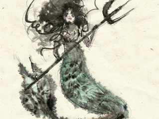 Blurry Mermaid - New Greetings Cards