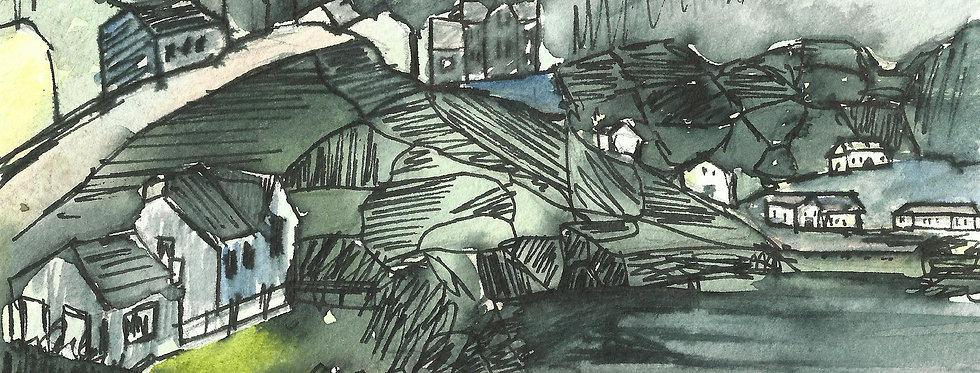 Ink Landscape Print