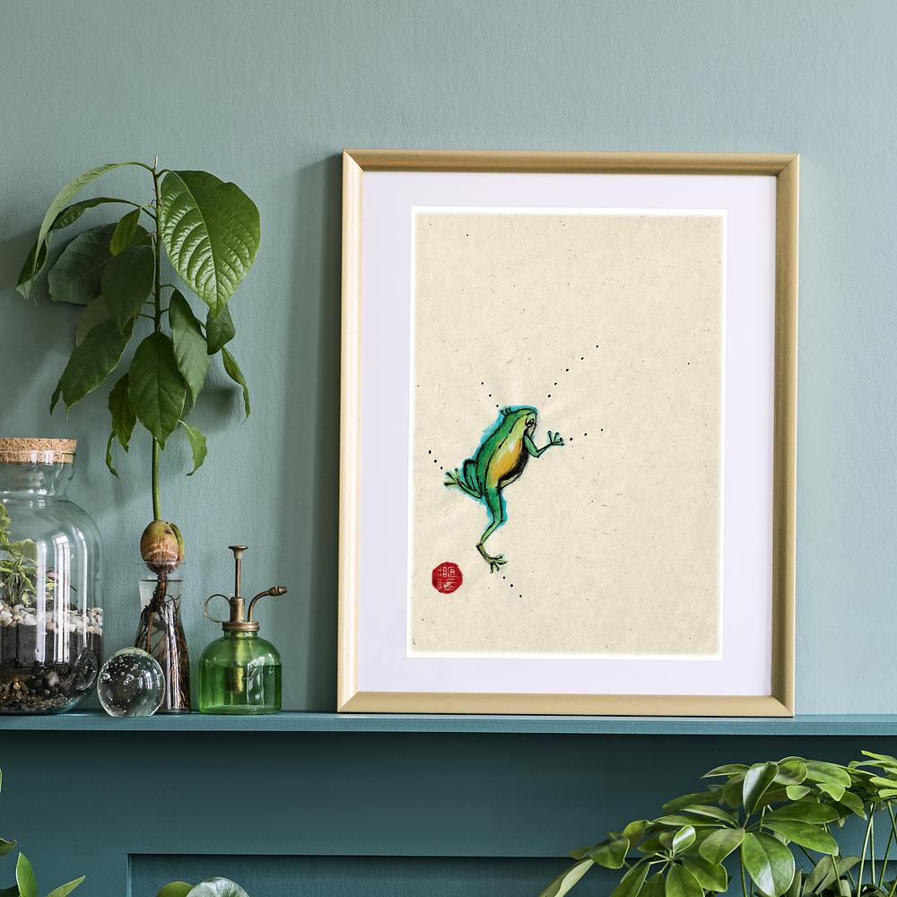 Tropical Frog Print : Unique Scottish Artwork by Morvenna