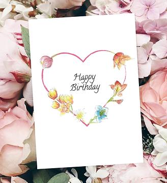 Floral greeting card by unique Scottish artist Morvenna