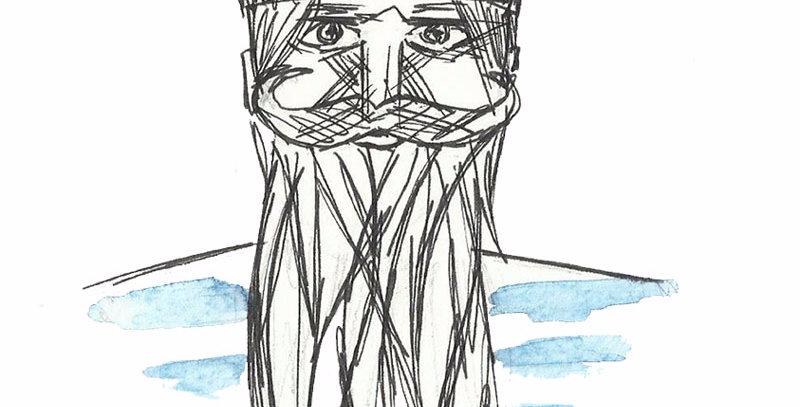 Bearded Sailor card