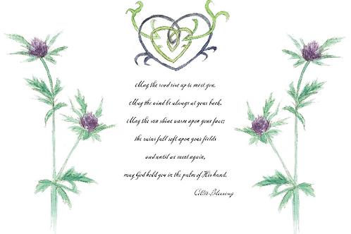 Celtic Blessing Print