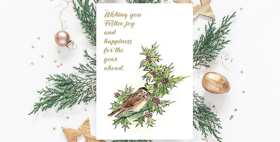 'Festive cheer' Christmas card