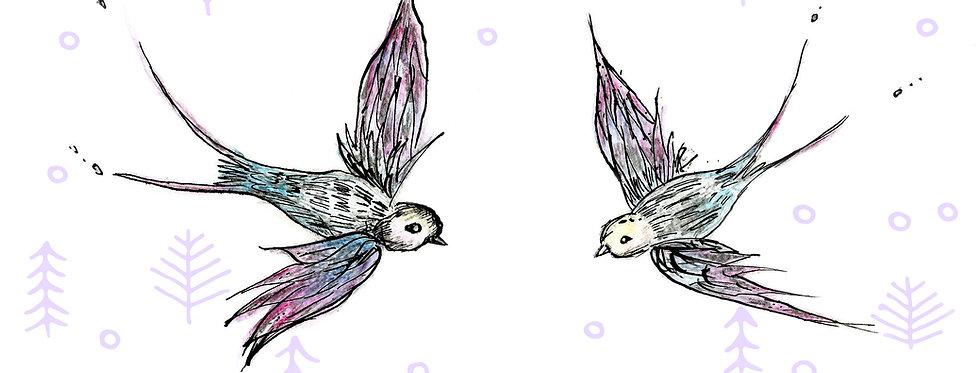 Birds in Flight Print