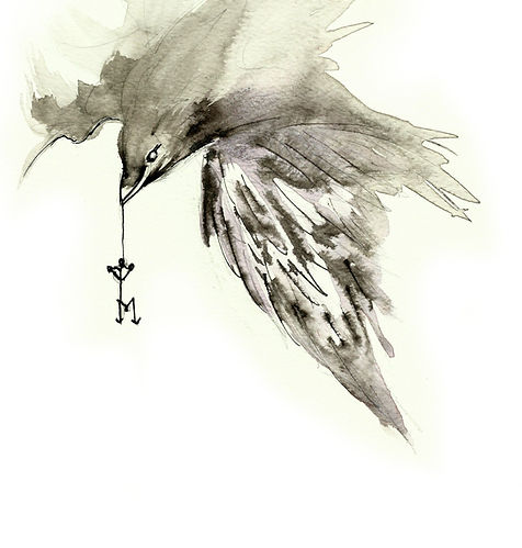 Raven _ Raven Print _ Gothic Art _ Morve