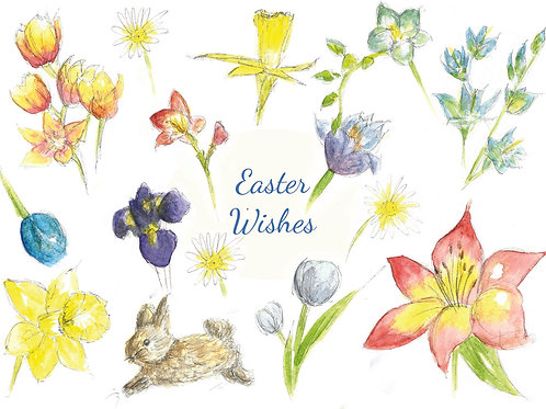 'Easter wishes' card