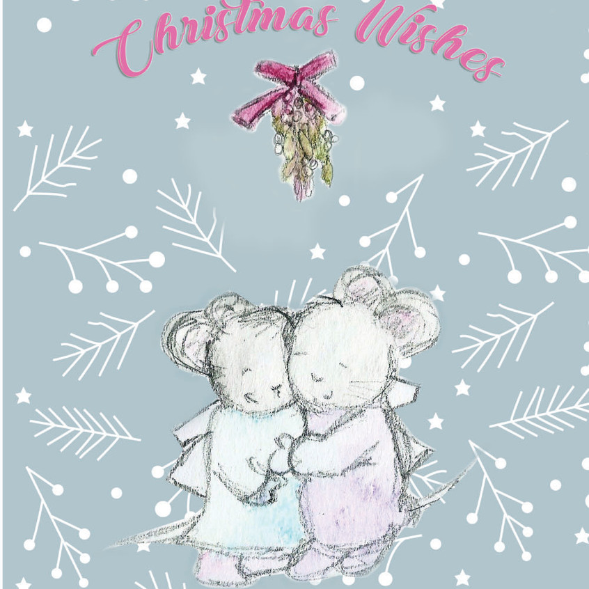 Christmas Wishes Mice Front