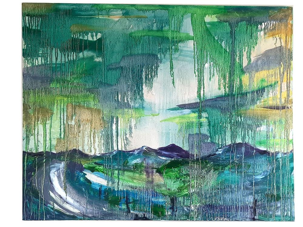 The Road to Home : Unique Original Scottish Landscape Artwork by Morvenna