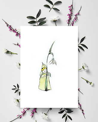 Scottish greeting cards | Mother's Day Card | Snowdrop fairy | Unique Scottish artist Morvenna