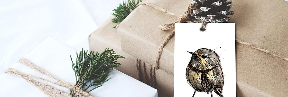 Christmas 'wee birdie' gift tags