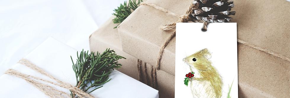 Christmas mouse gift tags