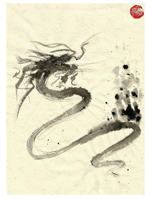 Chinese Dragon card