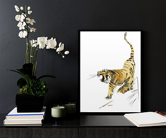 Tiger print by unique Scottish artist Morvenna
