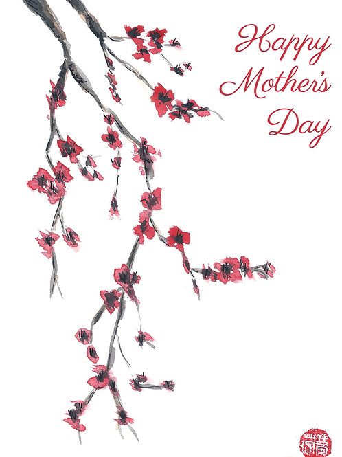 Mother's day blossom card