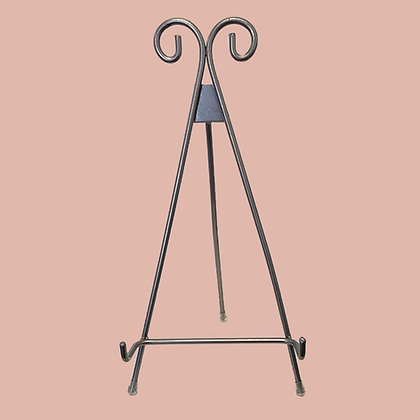 "Tabletop Metal Easel - 11"" Silver"