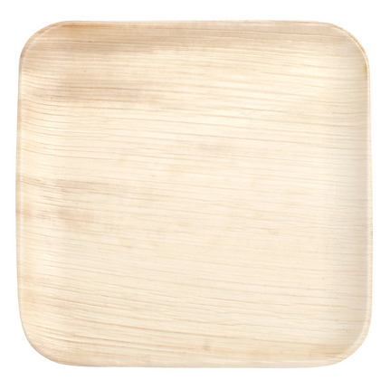 "8"" Square Palm Leaf Plate [25]"