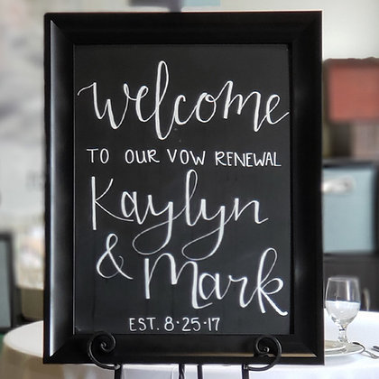 Large Black Framed Chalkboard