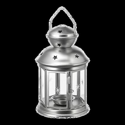 Silver Tealight Lantern