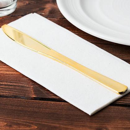 Gold Plastic Flatware - Knife [25 Count]