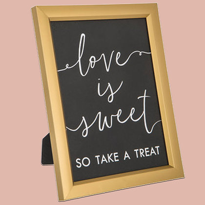 Take A Treat Gold Frame Sign