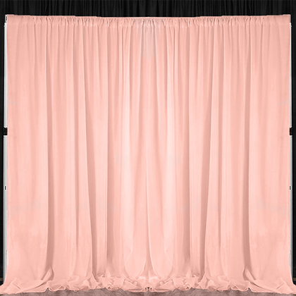 10' Pipe & Drape - Blush Sheer