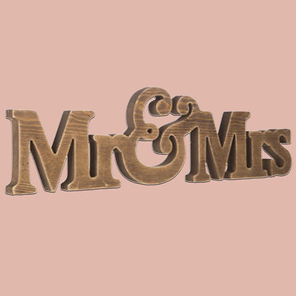 Mr & Mrs Block Letters Signs