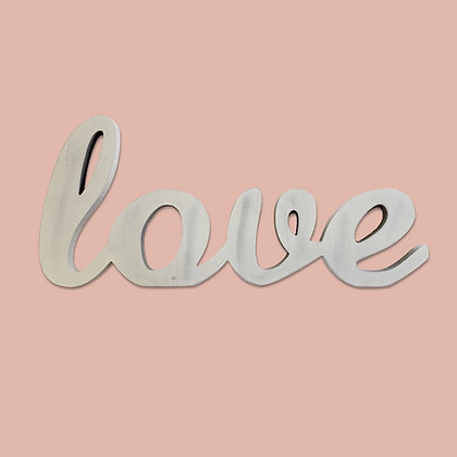 Love Block Letters Sign White