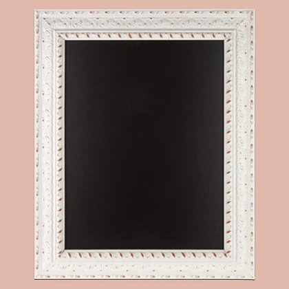 Large Antique White Framed Chalkboard