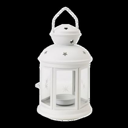 White Tealight Lantern