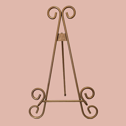 "Tabletop Metal Easel - 11"" Gold"