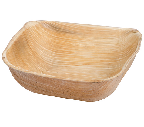 "5"" Square Palm Leaf Bowl [25]"