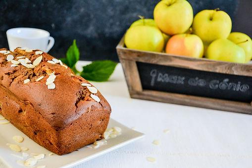 Cake aux pommes et amandes Max de Génie