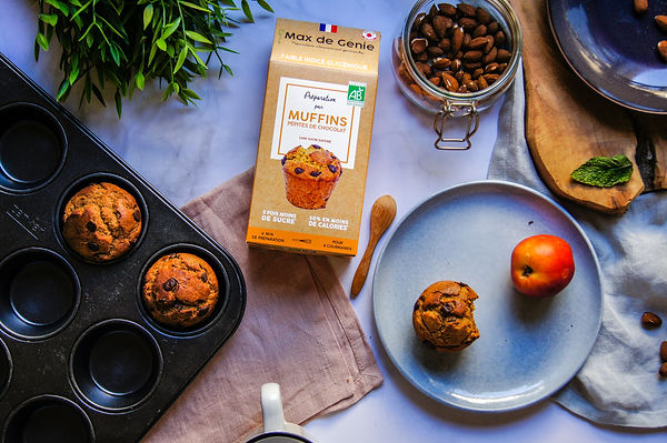 Muffins vegan (sans oeuf, sans lactose).