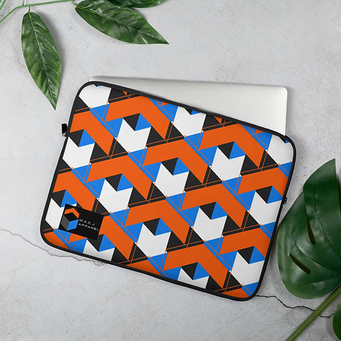 M.A.C.J Apparel White Laptop Sleeve (Tile Pattern)