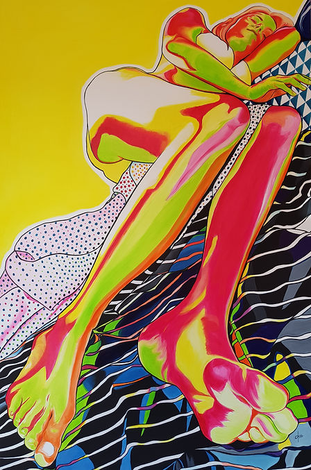 Color is life 5 oil on linen 150x100cm (59x39 in)