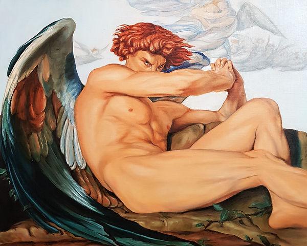 Copie l'Ange déchu de Cabanel (détail).j