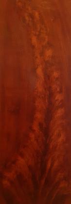 Flamed mahogany