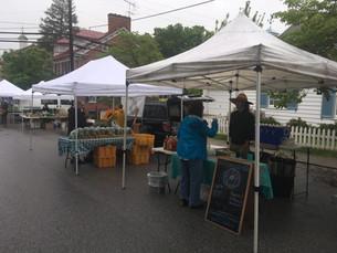 A rainy day at market