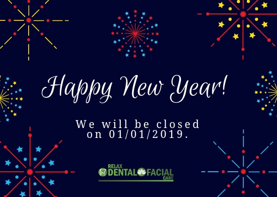 Happy New Year from the team at Relax Dental and Facial Care