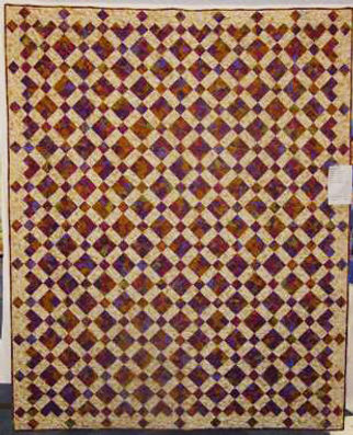 Hidden 9-Patch quilt, 2 fabrics, from a magazine in the 1990s