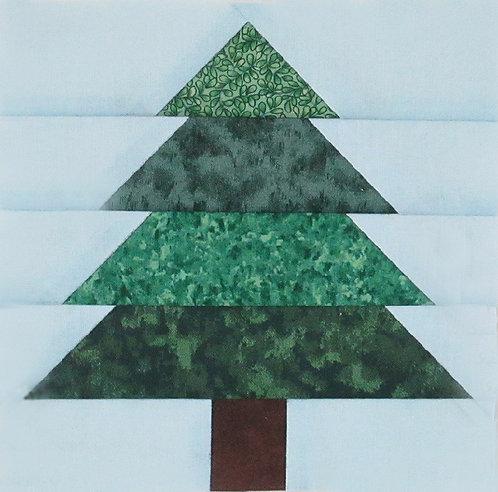 "Tree #2, 6"" Paper Pieced Block"