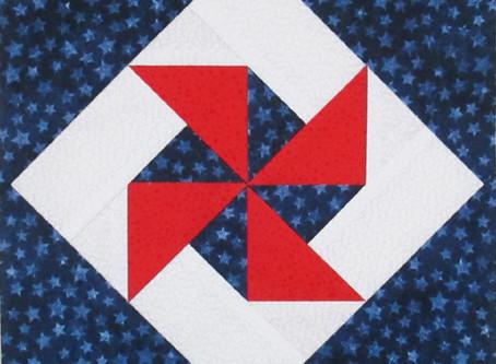 Pinwheel in a Square Block Pattern