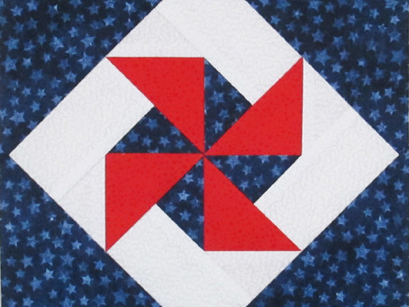 Pinwheel in a Square Block Pattern