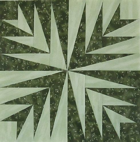 "Palm Leaves 12"" Paper Pieced Block"