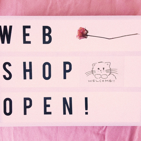 WEB SHOP OPEN!!