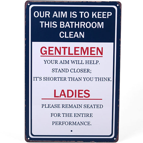 Bathroom plaque