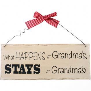 What happens at grandma's plaque