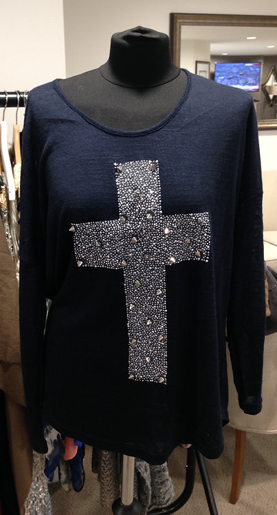 Top with cross on the front